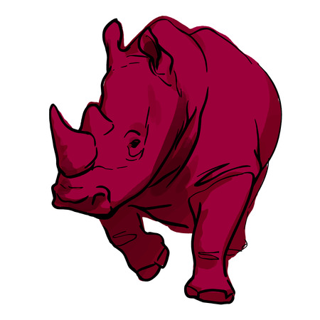Vector art of a rhinoceros
