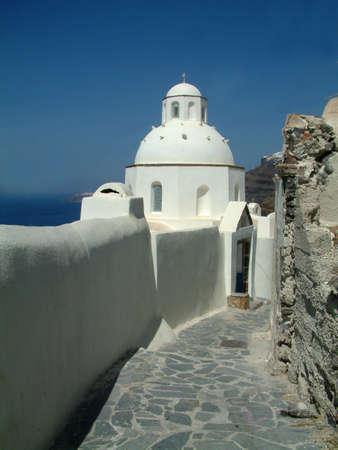 ortodox: Ortodox church in Santorini Stock Photo