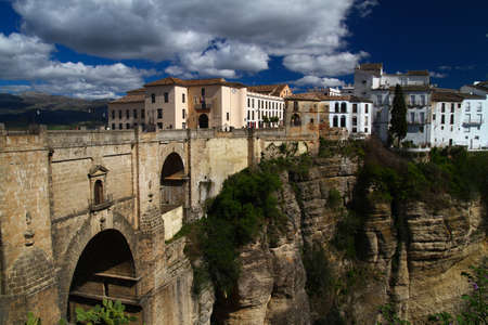 ronda: Old bridge in Ronda  city Andalusia, Spain Stock Photo