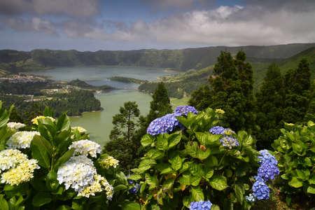 azul: Lagoa Verde and Lagoa Azul on San Miguel island Azores