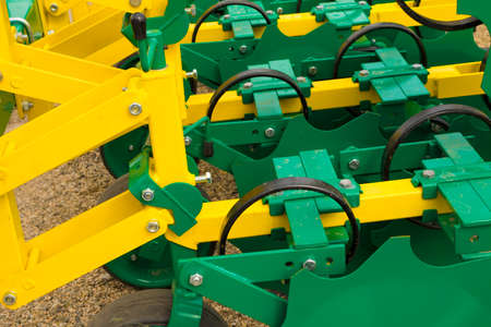 agricultural machinery: Liner agricultural machinery for a Farming Tractor Stock Photo