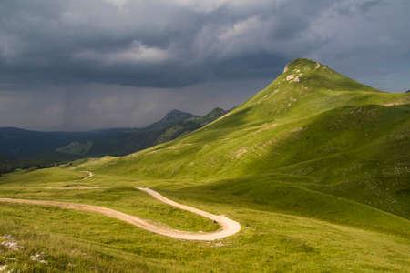 steep: Stog peak in Sutjeska national park Bosnia and Herzegovina