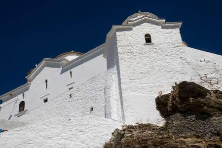 tou: Panagitsa Tou Pirgou church in Skopelos island