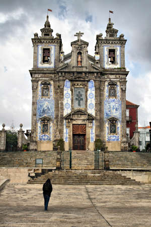 Church of Saint Ildefonso, with the typical Portuguese ornament of ceramic tiles