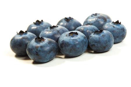 Bunch of raw fresh blueberries on white Imagens