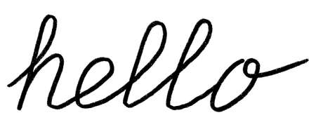 Brush Pen hello lettering isolated on white background. Handwritten Illustration. it can be used for invitation cards, banners and posters