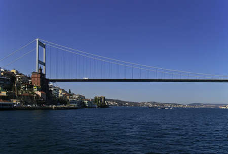 fatih: Fatih Sultan Mehmet Bridge in Istanbul, Turkey Stock Photo