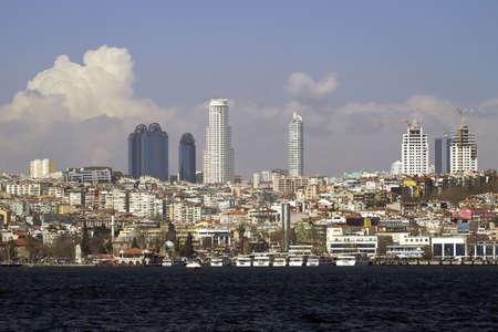 Beautiful skyscrapers in Istanbul, Turkey
