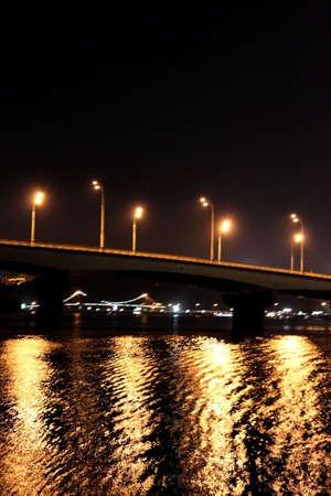 Bridge at night photo
