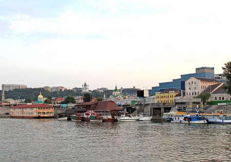 dnepr: Bank of Dnepr river in Kiev, Ukraine