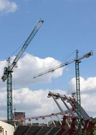 Construction of a stadium