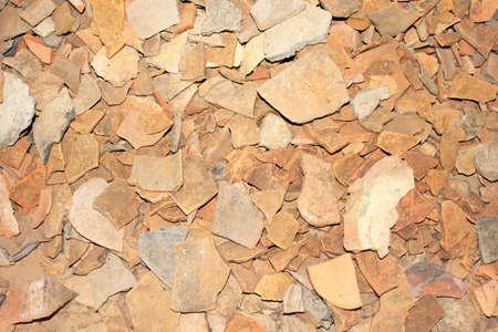 Piece of broken ceramic photo