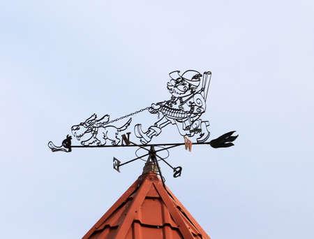 wiatrowskaz: Weather vane in the village