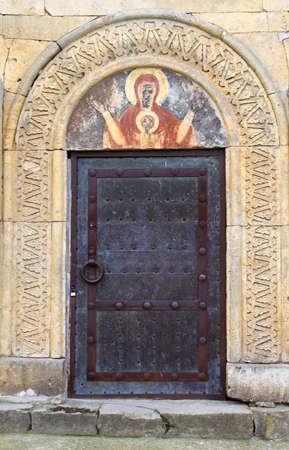gelati: Door and icon above it, Gelati monastery, Georgia