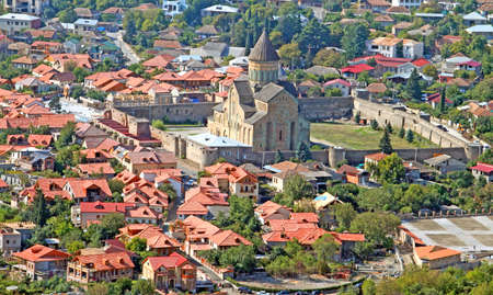 The view of Svetitskhoveli Cathedral in Mtskheta, Georgia Stock Photo