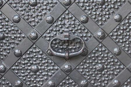Old iron door photo