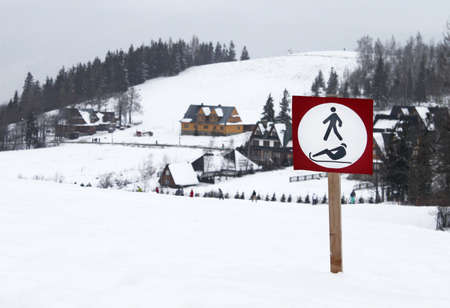 Sign in Tatra mountain, Poland photo