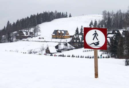 Sign in Tatra mountain, Poland photo