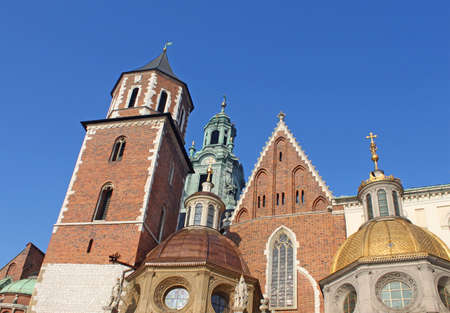 Cathedral at Wawel hill in Cracow. Poland Stock Photo