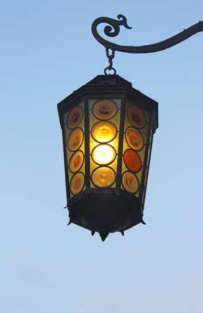 Old street lantern photo