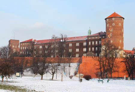 Wawel castle in the winter, Krakow photo