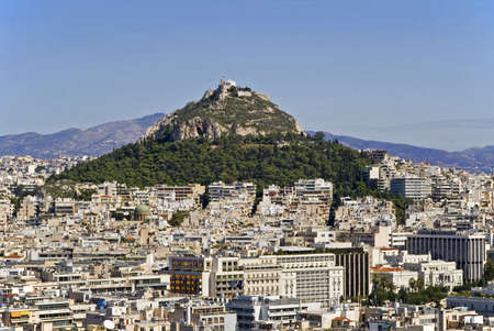 Mount Lycabettus in Athens, Greece photo