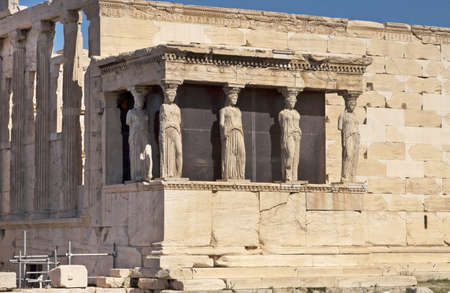 Porch of the Caryatids in Erechtheum, Athens photo
