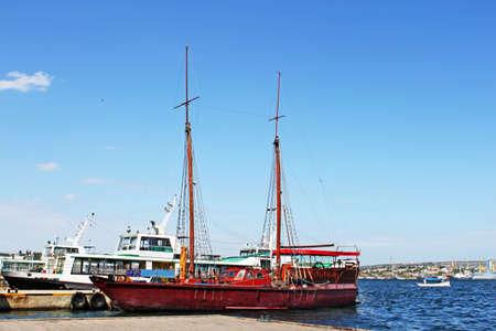Wooden yacht for tourist in Sevastopol, Crimea, Ukraine Stock Photo - 11910645