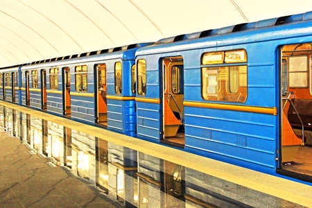 Subway station in Kiev underground