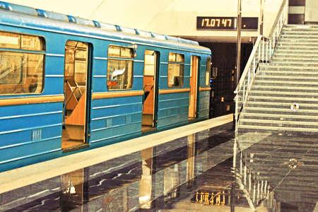 kiev: Subway station in Kiev underground