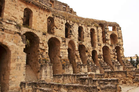Part of amphitheater in El Jem, Tunisia