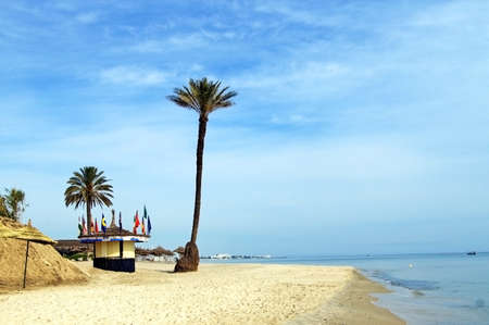 Beach on a sunny day, Sousse, Tunisia