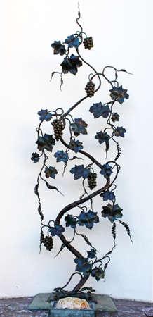 Forged vine in Odessa, Ukraine photo