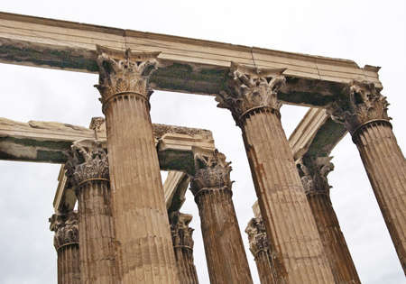 Columns of Zeus Temple in Athens, Greece photo