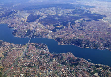 Istanbul and Bosphorus from the air