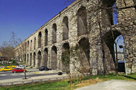 Valens Aqueduct (Bozdogan Kemeri) In Istanbul, Turkey  Stock Photo