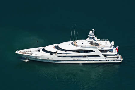 Large private motor yacht at sea photo