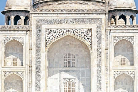 Close up of the Taj Mahal archway Stock Photo