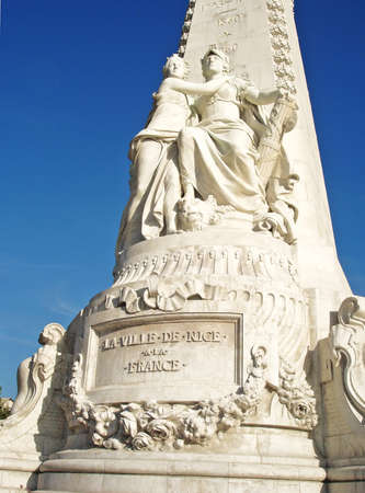 French Riviera monument in Nice photo