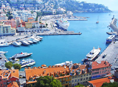 Enter to the famous port of Nice  French Riviera