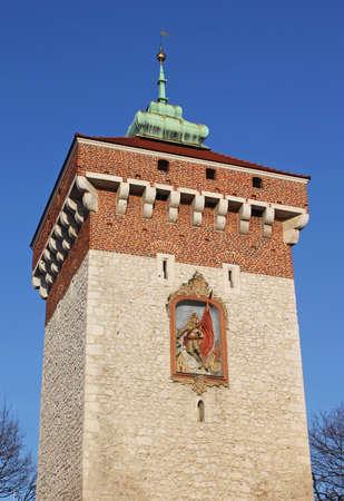 Florian Gate in Krakow, Poland photo