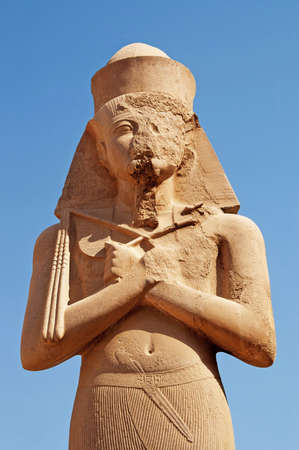 Pharaoh statue at Karnak Temple in Egypt