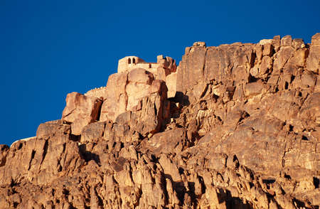 Greek orthodox chapel on mount sinai  moses mountain at 2285m in Egypt  Stock Photo