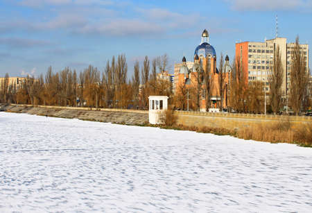 Winter town photo
