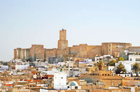 Overall view of city, roofs of houses, archeology museum of Sousse, Tunisia photo