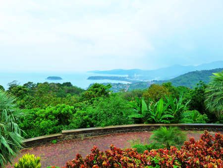 Bird eye view of Phuket viewpoint, Thailand  photo