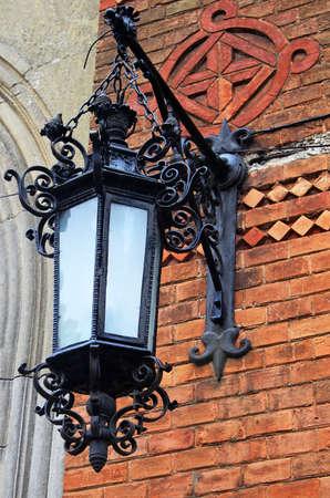 Lantern on the wall photo