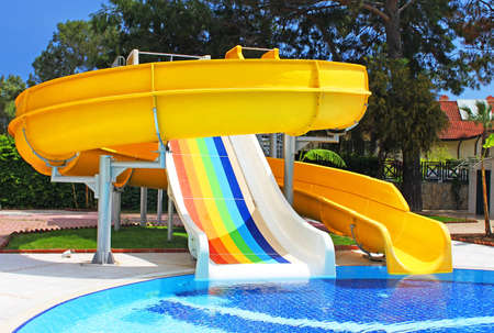 Aquapark slides, Turkey Editorial