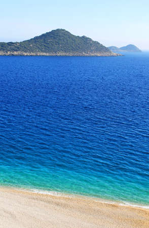 Lonely beach, Mediterranean coast,Turkey Stock Photo - 13615881