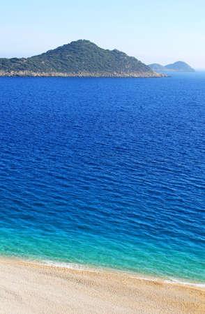 Lonely beach, Mediterranean coast,Turkey Stock Photo - 13615881